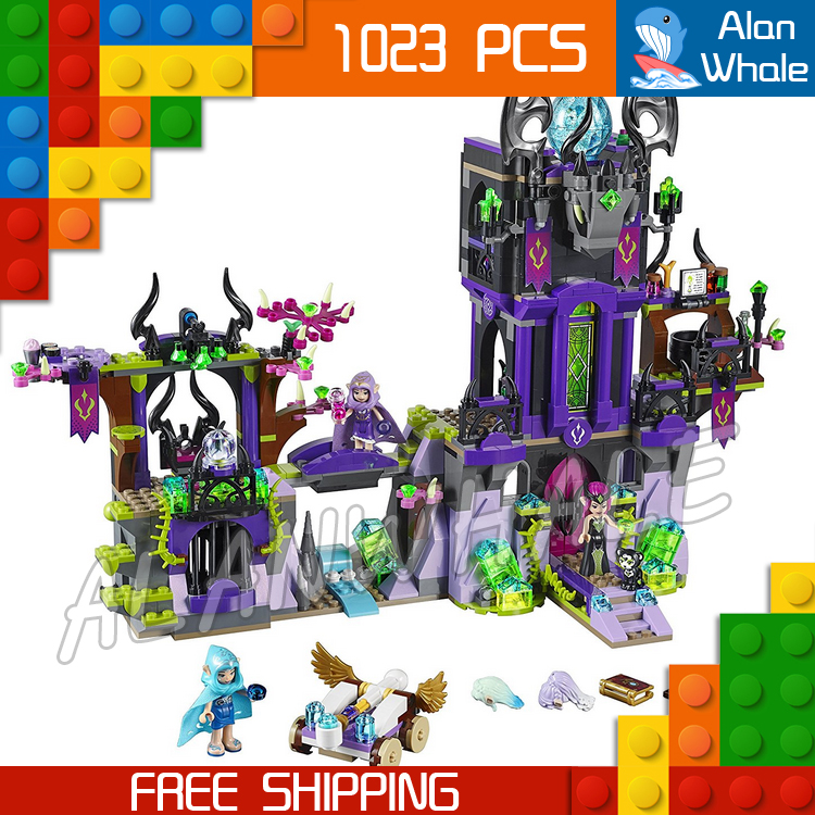 1023pcs New Ragana's Magic Shadow Castle Building Kit 3D Model Blocks Children Fairy Tale Princess Toys Compatible with Lego 10551 elves ragana s magic shadow castle building blocks bricks toys for children toys compatible with lego gift kid set girls
