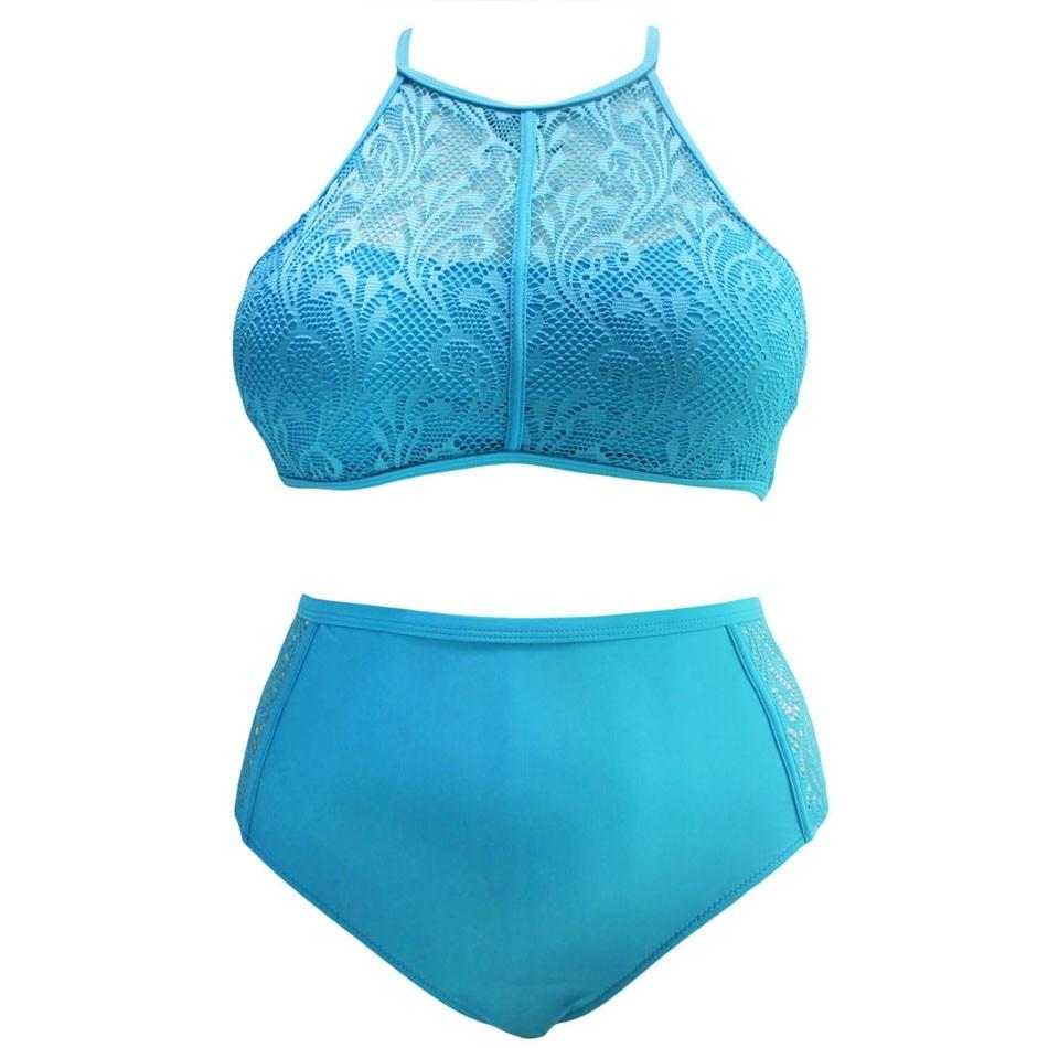 SEBOWEL Sexy Plus Rozmiar Wysokiej Talii Strój Kąpielowy Kobiety - Ubrania sportowe i akcesoria - Zdjęcie 3