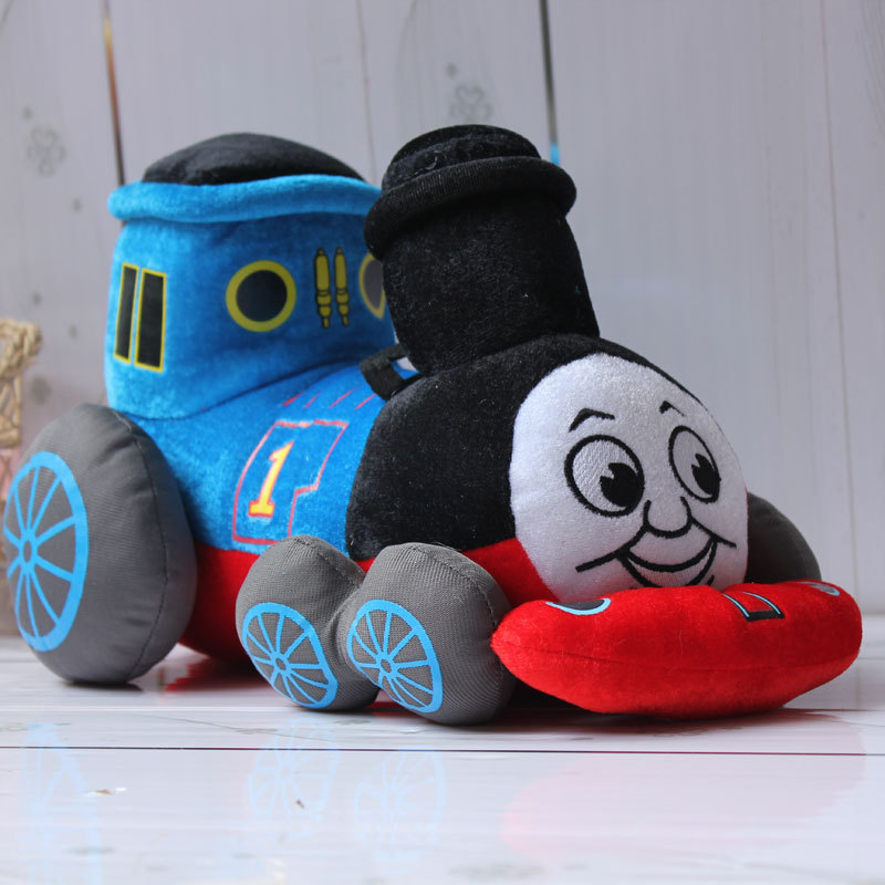 creative present lovely Thomas train plush toy soft throw pillow ,birthday gift w5371 d418 thomas train track toy electric toy happy farm gift set eyes will move