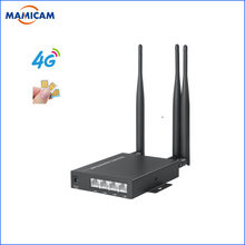 Unlocked 3G 4G SIM Card Router with 3 5dbi Antennas Industry 4G Module Wireless WIFI Router for Wi-fi IP Camera and AHD Camera(China)