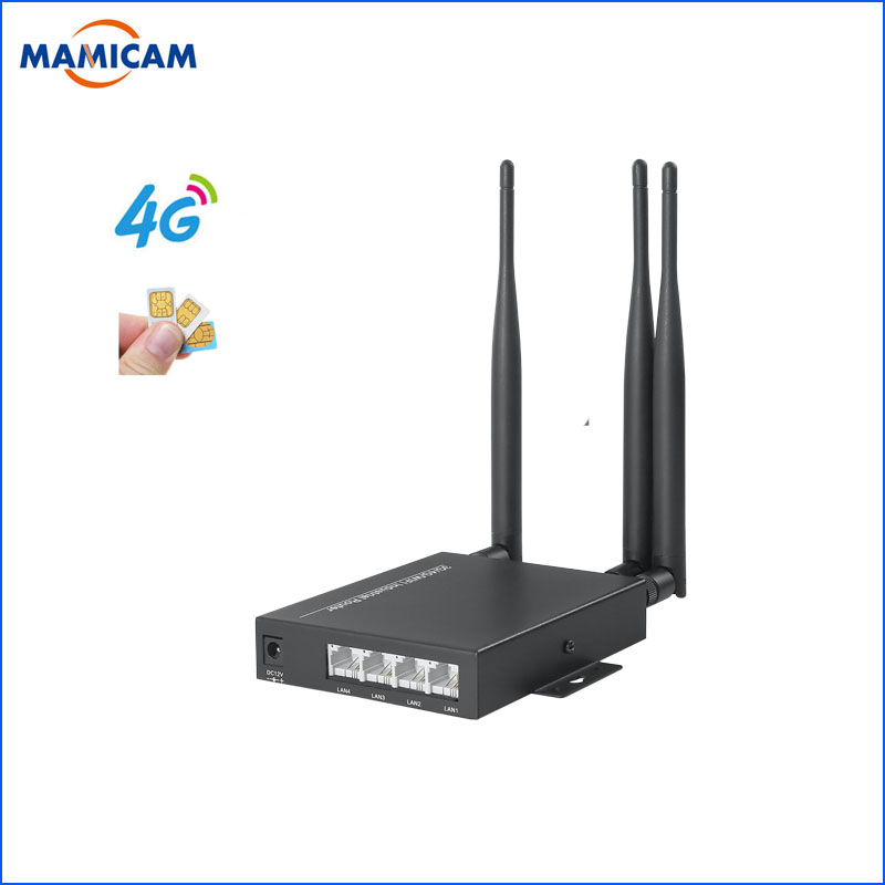 Unlocked 3G 4G SIM Card Router with 3 5dbi Antennas Industry 4G Module Wireless WIFI Router for Wi fi IP Camera and AHD Camera