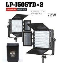 Falcon Eyes 2XLot 72W LED Panel Photography Video Light Panel Dimmable LED Studio light LP-1505TD with 2XLot battery BP-160 bp studio свитер