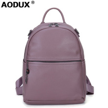 100% Genuine Leather Women Backpack Real First Layer Cow Leather Ladies' Backpacks Travel ipad Cowhide Female Bags vintage casual designer genuine first layer cowhide hand painting girls small red backpack ladies women leather travel backpack