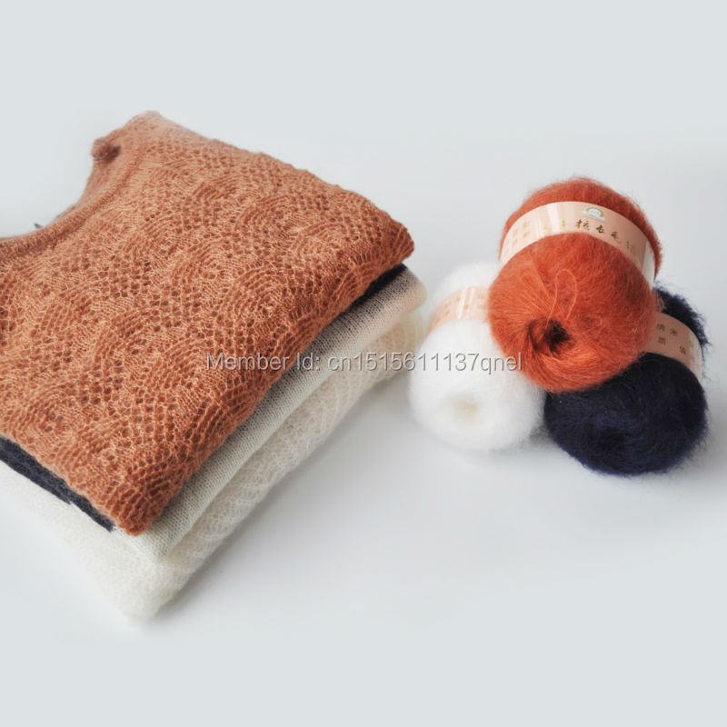 50g/ball Free Shipping Angola Mohair Cashmere Wool Yarn Skein For Knitting Scarf Shawl Sweater Hat A