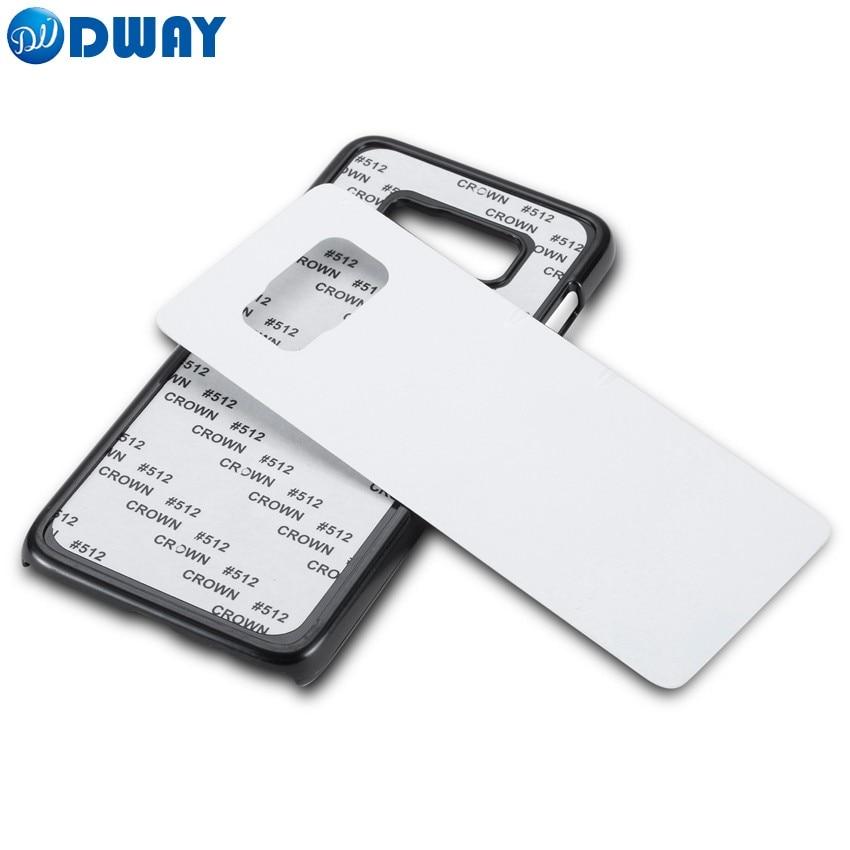 Цена за 2D PC сублимации пустой чехол для Samsung Galaxy S8 пластик жесткий чехол для телефона с алюминиевой пластиной 20 шт./лот