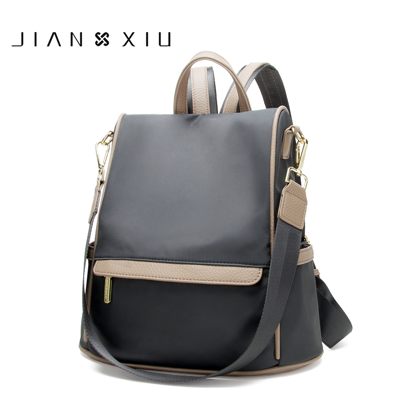 JIANXIU Oxford Multifunctional Backpack School Bags Women Travel Bagpack 2019 Large Capacity Length Strap Shoulder Bag