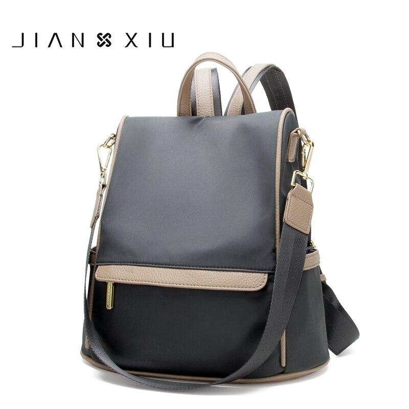 JIANXIU Oxford sac à dos multifonctionnel sacs d'école femmes voyage sac à dos 2019 grande capacité longueur sangle sac à bandoulière deux tailles