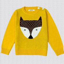 Girl's Warm Fox Printed Sweaters