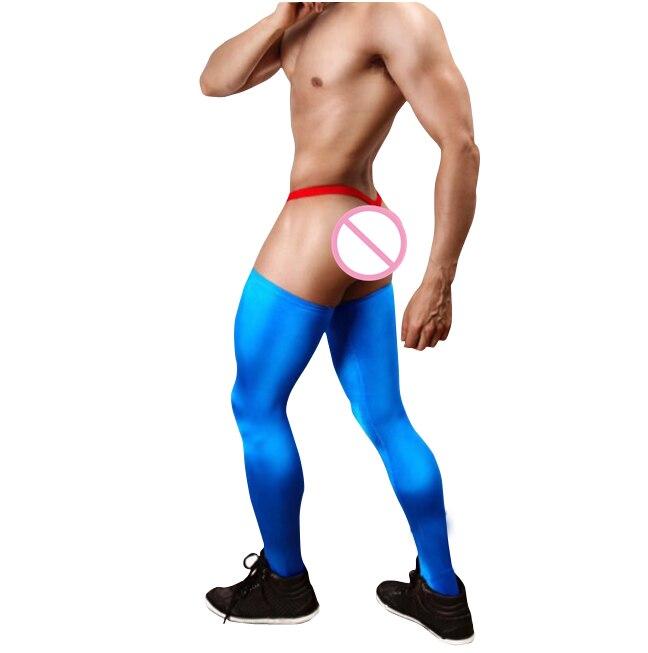 Himealavo Sexy Men's Nine Points Velvet High Elastic Stockings Men's Sports Plastic Leg LStocking Soft Pantyhose For Men