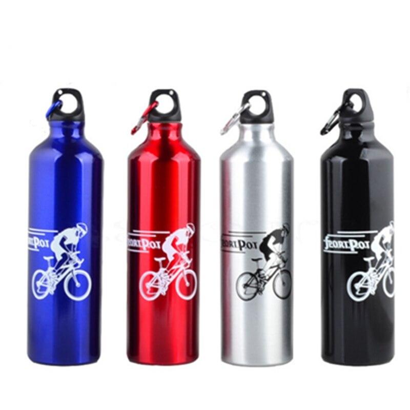 Metal Botella de 750 ml Botella de Agua de Los Deportes Al Aire Libre Ciclismo C