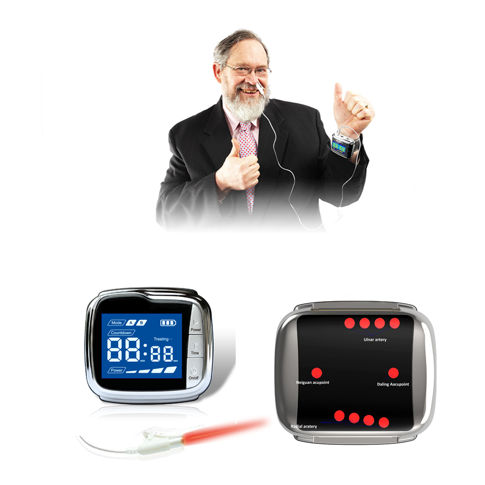 650 nm low level laser therapy smart wrist watch lower blood pressure blood fat,Medical laser acupuncture equipment