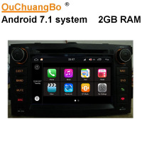 Ouchuangbo Android 7 1 2GB RAM Car Audio Radio Gps Multimedia For Toyota Auris Support USB