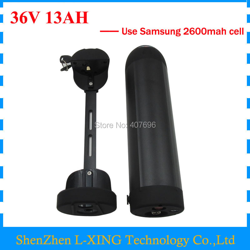 Free customs fee 36V 13AH Electric Bike battery 500W 36V 13AH battery 36V bottle battery use samsung 2600mah cell 2A Charger free customs fee 1000w 36v 17 5ah battery pack 36 v lithium ion battery 18ah use samsung 3500mah cell 30a bms with 2a charger