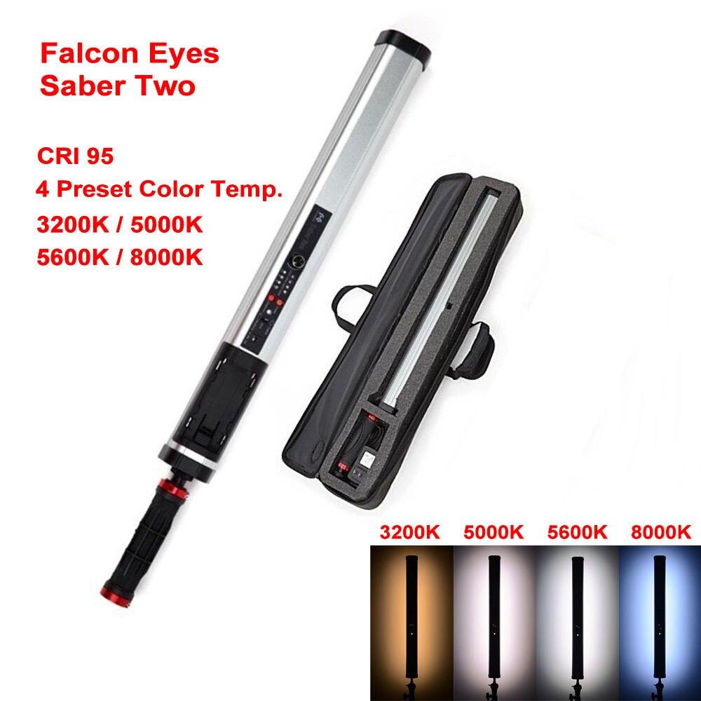 Falcon Eyes 17 Вт сабля два (Sarber2) 4 вида цветов температуры диммируемая выходная мощность ручной светодио дный светодиодный фото видео свет Stick
