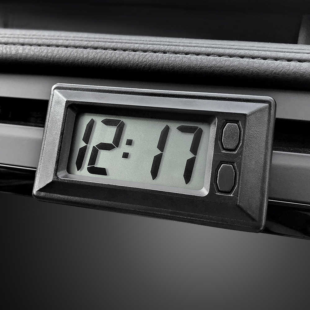 Car Ornament Automotive Clock LCD Digital Display Auto Watch Vehicle Auto Interior Decoration Self-Adhesive Stick-On Ultra-thin