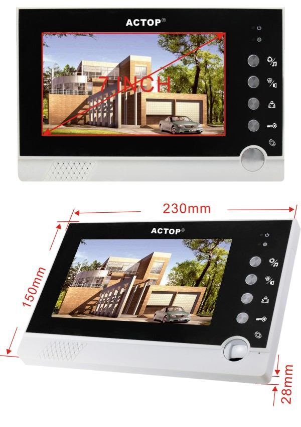 Free Sipping VDP-316+CAM-201Direct Factriy Straight -Click Wired Villa7-Inch Color Video Intercom Doorbell Intelligent VisualFree Sipping VDP-316+CAM-201Direct Factriy Straight -Click Wired Villa7-Inch Color Video Intercom Doorbell Intelligent Visual
