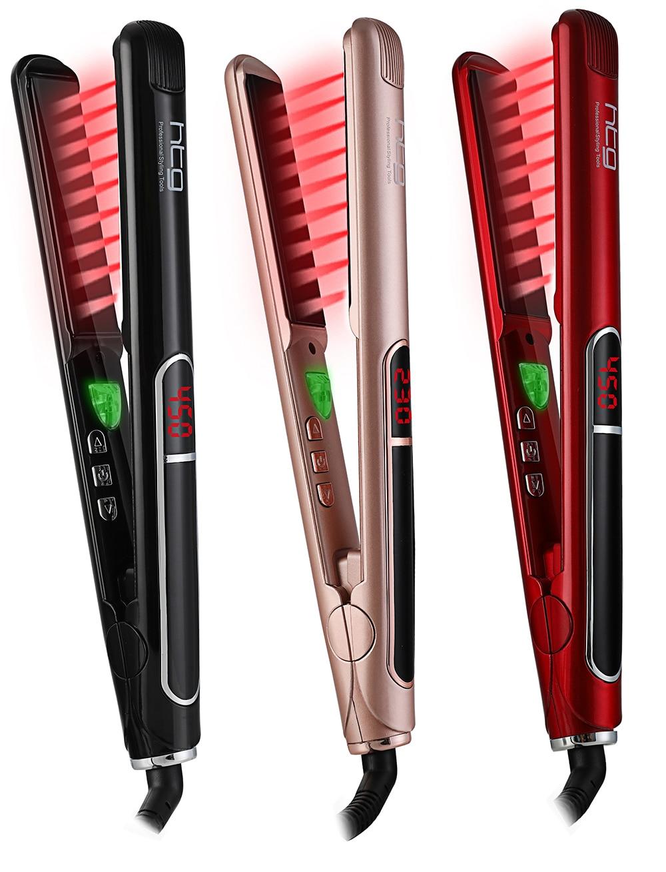 HTG Professionelle Haarglätter mit lONIC + Infrarot Haar Strecker eisen + LCD Display Haar Flache Eisen HT087