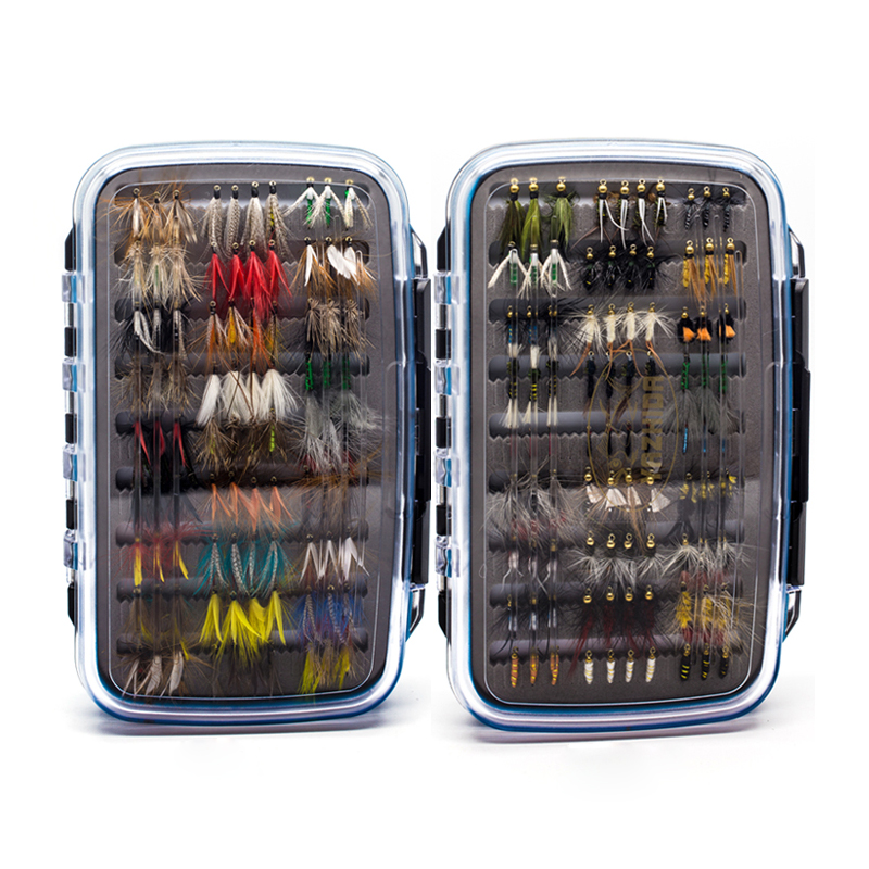 180 pcs Wet Dry Nymph Fly Fishing Flies Set Fly Lure Kit hand tied Flies for Trout Pike grayling fly tying materials 12 species natural feathers set reindeer hair pheasant fly tying flies lure making for wet dry nymph flies