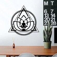 Cartoon Style Yoga Wall Art Sticker Modern Decals Quotes Vinyls Stickers Living Room Children Decoration Murals