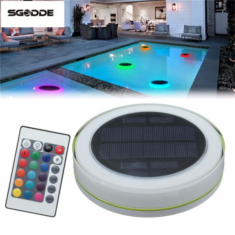 12 LED Under water Solar Powered Floating Lights with Remote Control