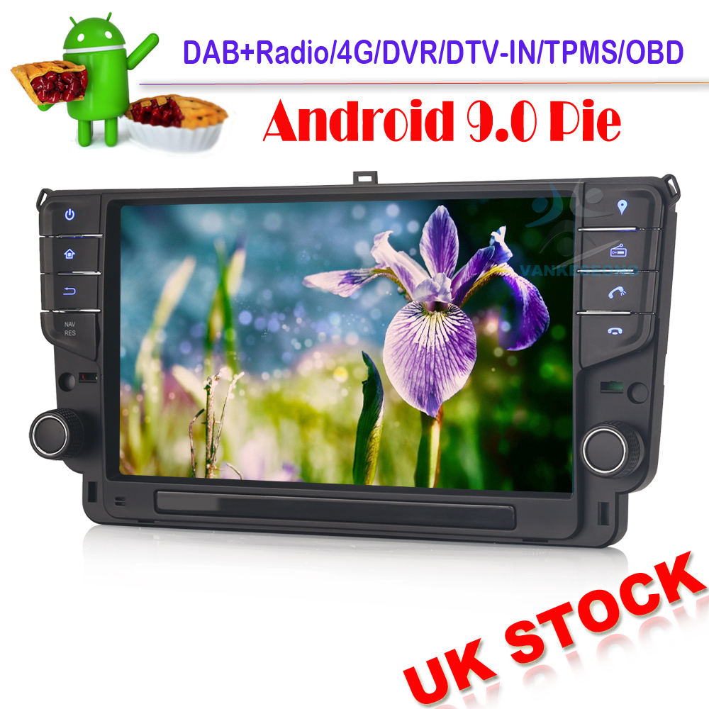 9 Autoradio Android 9.0 Sat Nav DAB+ GPS Car Stereo Car Multimedia for VW GOLF VII/7 2013 onwards WIFI Bluetooth SWC 4G OBD RDS image