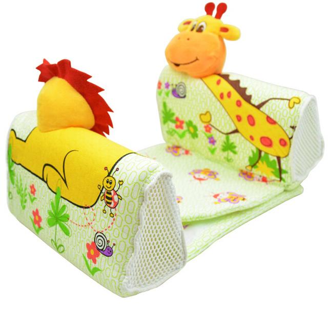 Crianças cama infantil animais U travesseiro forma segura bebê de algodão macio sono travesseiro anti-rollover