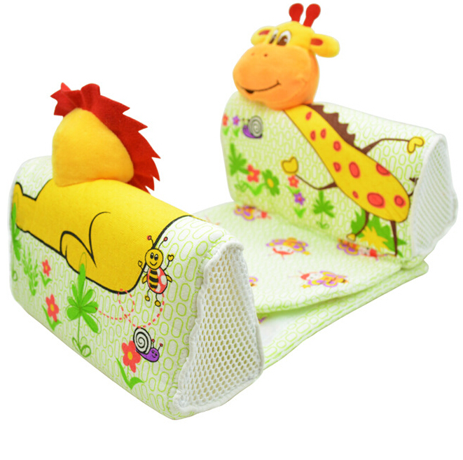 children infant bedding animal U shape pillow safe soft cotton baby sleep pillow anti rollover