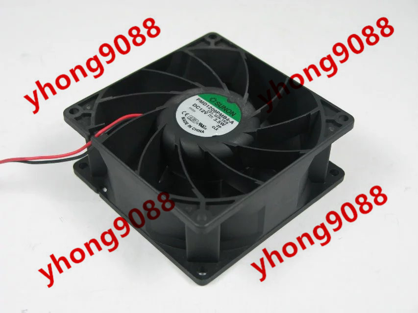 Free Shipping For SUNON PMD1209PMB4-A (2).F.GN DC 12V 3.5W 2-wire 2-pin connector 90X90X39mm Server Square Cooling Fan
