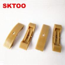 SKTOO 4pcs Camshaft Timing Chain Tensioner Shoe Pad fit for VW Golf Passat case Audi Skoda 1.8T, 2.7, 2.7T, 2.4, 3.2, 4.2 V8