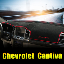 For Chevrolet Captiva 2011 2012 2015 2016 2017 LHD Car Dashboard Avoid Light Pad Instrument Platform Desk Cover Mats Accessories dongzhen fit for mitsubishi asx 2011 to 2016 car dashboard cover avoid light pad instrument platform dash board cover