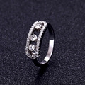 Fashion Luxury Brand Mother White Move Stone Wedding ring Set New Energy rings For Woman