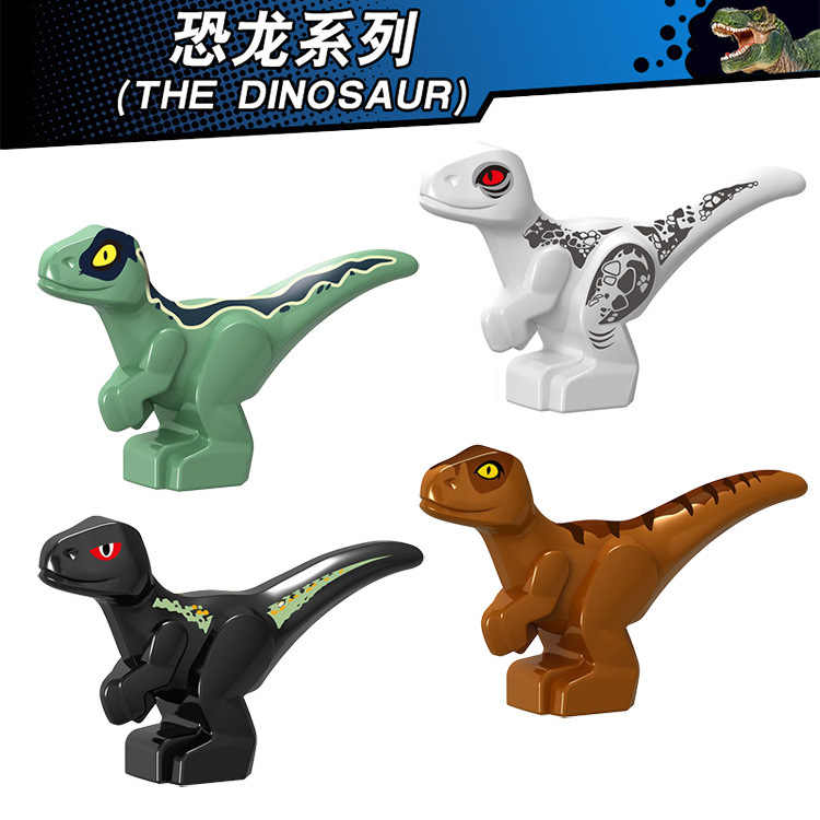 10 шт./партия продажа строительных блоков маленькие динозавры Фигурки игрушки для детей развивающие совместимы с Legoe Baseplate для подарка