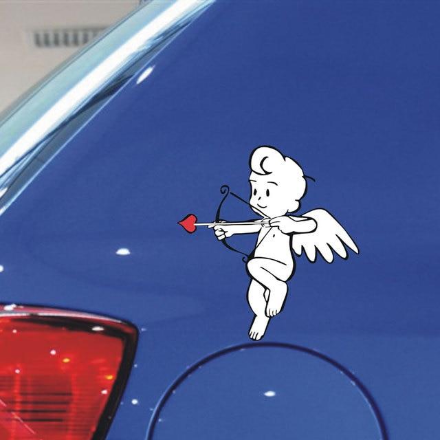 Lovely cartoon cupid angel decoration car window stickers and decalsdie cut vinyl waterproof sticker