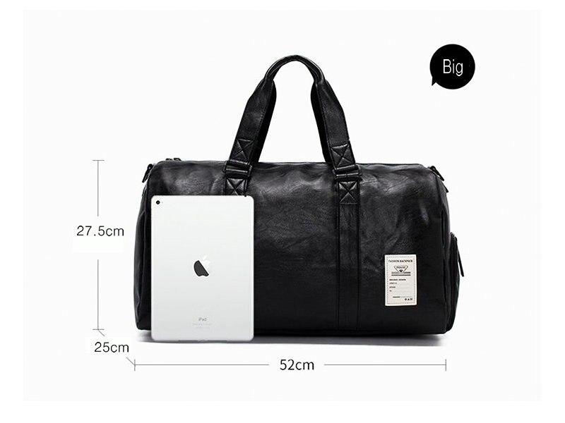 ... Gym Sports Bag Mens Travel Storage Bag Organizer Women Black Leather  Fitness Shoulder Bags Outdoor Training Bags. AXT1. AXT5 AXT2 AXT3. Name  Travel  bag ... 26fb88e39709b