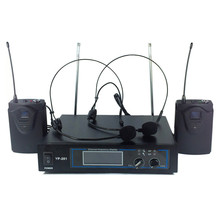 Wi-fi Microphone System DJ Karaoke Lapels, Headset ear microphone for choices (2 Bodypack Transmitter) in skilled audio