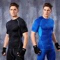 Nuevo Ascensor Cuerpo Que Adelgaza la Talladora de Los Hombres Transpirable de Secado rápido Ropa de Entrenamiento de Fitness Fajas Tops Chalecos