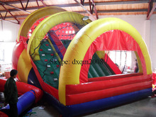 entertainment safety PVC inflatable slide and climbing playground