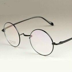 Nuevo mago de la moda de Viodream 100% marcos de gafas de titanio puro hombres mujeres gafas redondas marcos de gafas doradas 4 colores