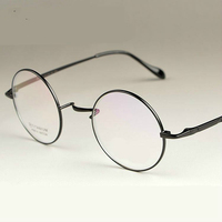 Viodream New Fashion wizard 100% pure Titanium Eyeglasses Frames Men women round Eyeglasses Gold Glasses Frames 4 Color