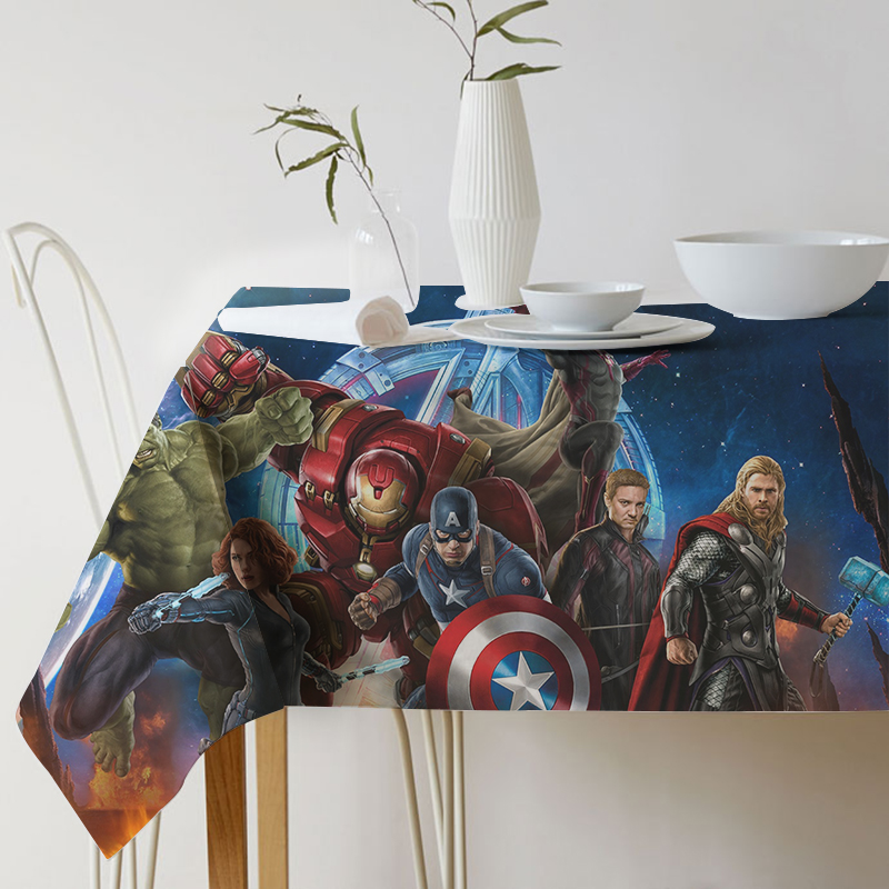 Table cloth Nordic style New Super Hero Avengers Alliance Printed Tablecloth Home Protection and decoration Elegant Table cover