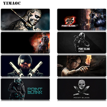 YIMAOC Point Blank Mouse Pad 30x80 cm Computer Mousepad Anti-slip Natural Rubber Gaming Mat