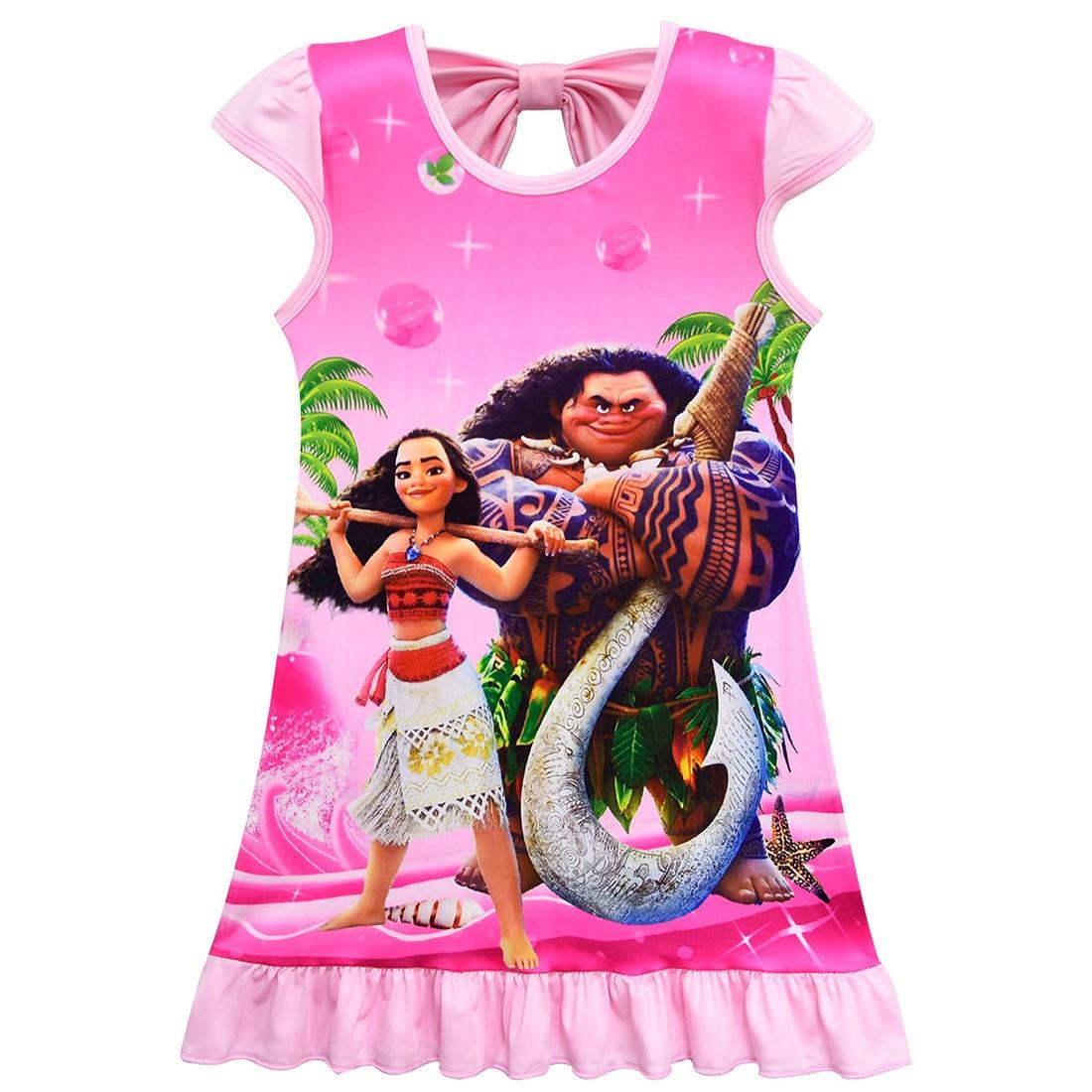 52038f5ca 2018 Moana mascota cerdo niños vestidos para niñas princesa cumpleaños  fiesta Vestido niños Elsa Anna disfraz niños ropa Vestido vaiana