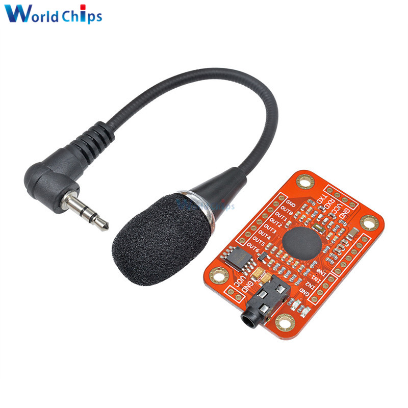 Speed Recognition Voice Recognition Module V3 Compatible with for Arduino Support 80 Kinds of Voice DC 4.4  5.5 V High Accuracy-in Integrated Circuits from Electronic Components & Supplies