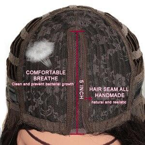Image 5 - Peluca con malla frontal para mujeres negras cabello liso degradado de Color mágico de 18 pulgadas, pelucas africanas y americanas, pelo sintético resistente al calor