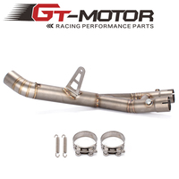 Motorcycle 61MM Exhaust Middle Pipe for YAMAHA 2015 2016 R1 Modified Exhaust Pipe R1 Middle Pipe Exhaust Slip On