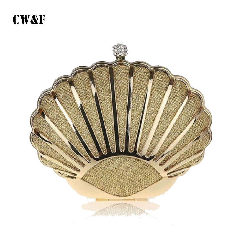 New shell small mini hard shell chain hand holding dinner party evening bag handbags