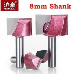 8mm Shank czyszczenie dno wiertło do grawerowania frez węglikowy narzędzia do obróbki drewna frezowanie CNC frez do drewna płaskie drzwi