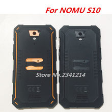 New Original For Nomu S10 IP68 Back Housings Door Case Battery Cover Glass Panel For Nomu S10 5.0inch Cellphone(China)