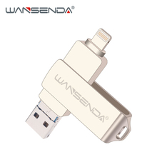 Wansenda OTG USB Flash Drive 3.0 for iPhone/iPad/IOS/Android/PC 64GB 32GB 16GB 8GB pen drive 3 in 1 high speed Pendrive