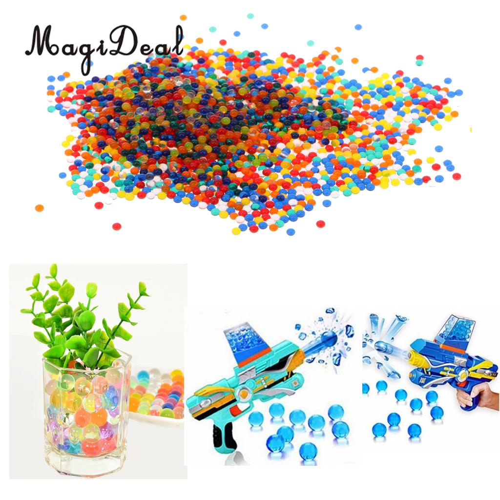 MagiDeal 10000Pcs Crystal Soil Water Bead Bullet Growing Balls For Water War Game Novelty Children Toys Wedding Showers Decor